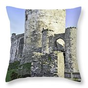 Medieval Conwy Throw Pillow