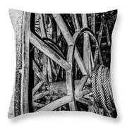 Medieval Elevator Motor Throw Pillow