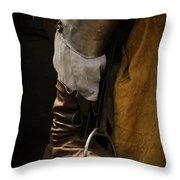Medieval Faire Boot Detail 2 Throw Pillow