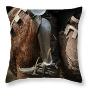 Medieval Faire Boot Detail 3 Throw Pillow