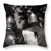 Medieval Faire Planning Strategies Throw Pillow