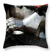 Medieval Faire Ready To Ride Throw Pillow