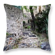 Medieval Garden Throw Pillow