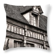Medieval House Throw Pillow