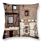 Medieval Houses In Albi France Throw Pillow by Elena Elisseeva