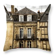 Medieval Houses In Vannes Throw Pillow by Elena Elisseeva