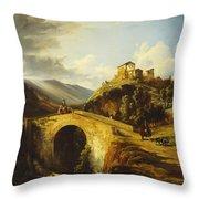 Medieval Landscape Throw Pillow