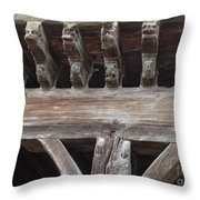 Medieval Market Place  Throw Pillow by France  Art