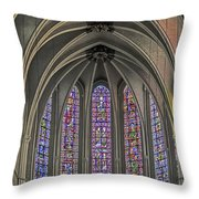 Medieval Stained Glass Throw Pillow