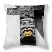 Medieval Statue Throw Pillow
