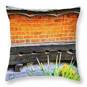 Medieval Stockade Throw Pillow