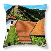 Medieval Street Throw Pillow