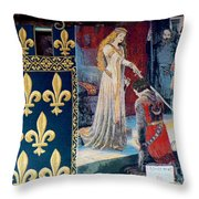 Medieval Tapestry Throw Pillow by France  Art