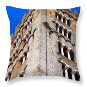 Medieval Tower Throw Pillow