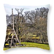 Medieval Weapon Throw Pillow