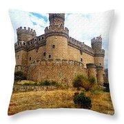 Medievel Castle Throw Pillow