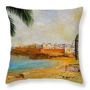 Medina Of Tetouan Throw Pillow by Catf