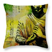 Meditating Buddha Throw Pillow by Corporate Art Task Force