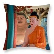 Meditating Buddha In Lotus Position Throw Pillow