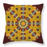 Meditating On Life - Mandala Throw Pillow