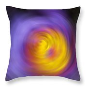 Meditation - Abstract Energy Art By Sharon Cummings Throw Pillow