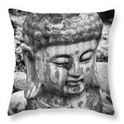 Meditation Bw Throw Pillow