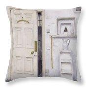 Meditation On A Door I Throw Pillow by Charles E Hardaker