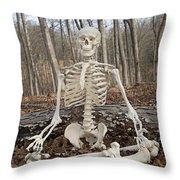 Meditative Moods Color Throw Pillow