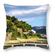 Mediterranean Coast Of French Riviera Throw Pillow