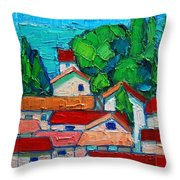 Mediterranean Roofs 1 2 3 Throw Pillow