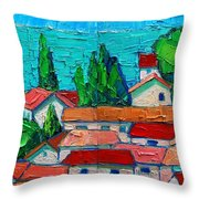 Mediterranean Roofs 1 2 Throw Pillow