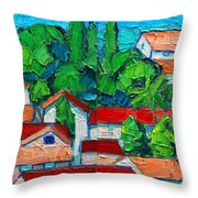 Mediterranean Roofs 2 3 Throw Pillow
