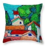 Mediterranean Roofs 2 Throw Pillow