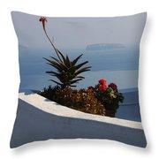 Mediterranean Views Throw Pillow