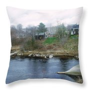 Medomak River, Waldoboro,maine Throw Pillow