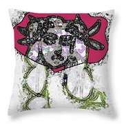 Medusa Looking Through Throw Pillow