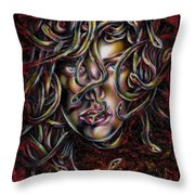 Medusa No. Three Throw Pillow
