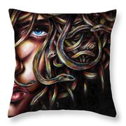Medusa No. Two Throw Pillow by Hiroko Sakai