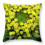 Medusa Succulent Flower Cluster Throw Pillow