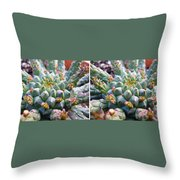 Medusa Succulent In Stereo Throw Pillow
