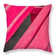 Wimberley Texas Market Red Bench Throw Pillow