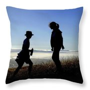 Meet At The Top Of The World Throw Pillow