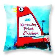 Meet Me At The Big Chicken Throw Pillow