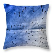 Meet Me Halfway Across The Sky 1 Throw Pillow by Angelina Vick