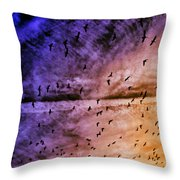 Meet Me Halfway Across The Sky 3 Throw Pillow by Angelina Vick