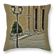Meet Me On The Steps Throw Pillow