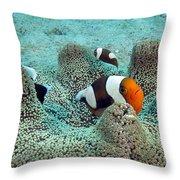 Meet The Nemo Family Throw Pillow