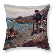Meeting Father Throw Pillow