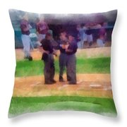 Meeting Of The Umpires Photo Art Throw Pillow