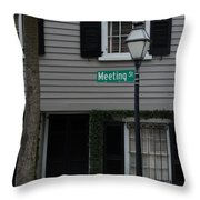 Meeting St Throw Pillow